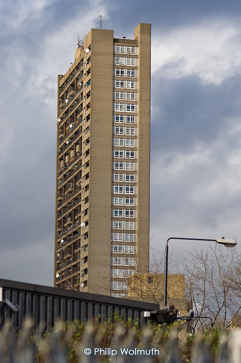 Trellick Tower, in North Kensington, London, was designed by architect Erno Goldfinger.