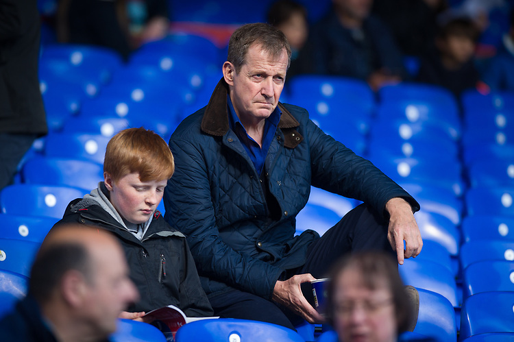 Burnley fan Alastair Campbell at Selhurst Park<br /> <br /> Photographer Ashley Western/CameraSport<br /> <br /> The Premier League - Crystal Palace v Burnley - Wednesday 26th April 2017 - Selhurst Park - London<br /> <br /> World Copyright &not;&copy; 2017 CameraSport. All rights reserved. 43 Linden Ave. Countesthorpe. Leicester. England. LE8 5PG - Tel: +44 (0) 116 277 4147 - admin@camerasport.com - www.camerasport.com