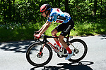 Polka Dot Jersey leader Casper Pedersen (DEN) Team Sunweb in action during Stage 5 of the Criterium du Dauphine 2019, running 201km from Boen-sur-Lignon to Voiron, France. 13th June 2019.<br /> Picture: ASO/Alex Broadway | Cyclefile<br /> All photos usage must carry mandatory copyright credit (© Cyclefile | ASO/Alex Broadway)