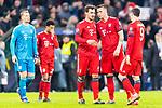 13.03.2019, Allianz Arena, Muenchen, GER, UEFA CL, FC Bayern Muenchen (GER) vs FC Liverpool (GBR) ,Achtelfinale, UEFA regulations prohibit any use of photographs as image sequences and/or quasi-video, im Bild Manuel Neuer (FCB #1) Serge Gnabry (FCB #22) Mats Hummels (FCB #5) Niklas Suele (FCB #4) Robert Lewandowski (FCB #9) enttaeuscht<br /> <br /> Foto © nordphoto / Straubmeier