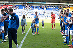 St Johnstone v Ross County&hellip;12.05.18&hellip;  McDiarmid Park    SPFL<br />Leaving players Steven MacLean, Chris Millar and Alan Mannus are applauded of the pitch by their team mates<br />Picture by Graeme Hart. <br />Copyright Perthshire Picture Agency<br />Tel: 01738 623350  Mobile: 07990 594431