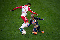 HARRISON, NJ - Sunday October 18, 2015: The New York Red Bulls defeat the Philadelphia Union 4-1 at home at Red Bull Arena in regular season MLS play.