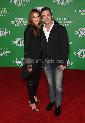 """Westwood, CA - DECEMBER 07: Jeff Probst, Lisa Ann Russell, At Premiere Of Paramount Pictures' """"Office Christmas Party"""" At Regency Village Theatre, California on December 07, 2016. Credit: Faye Sadou/MediaPunch"""