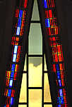 October 27, 2010:  Skylight filtered colors through the stained glass at the Protestant Chapel, U.S. Air Force Academy, Colorado Springs, Colorado.