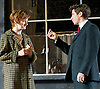 Hobson's Choice by Harold Brighouse<br /> at Regent's Park Open Air Theatre, London, Great Britain <br /> press photocall<br /> 13th June 2014 <br /> <br /> Jodie McNee as Maggie Hobson<br /> Karl Davies asWillie Mossop