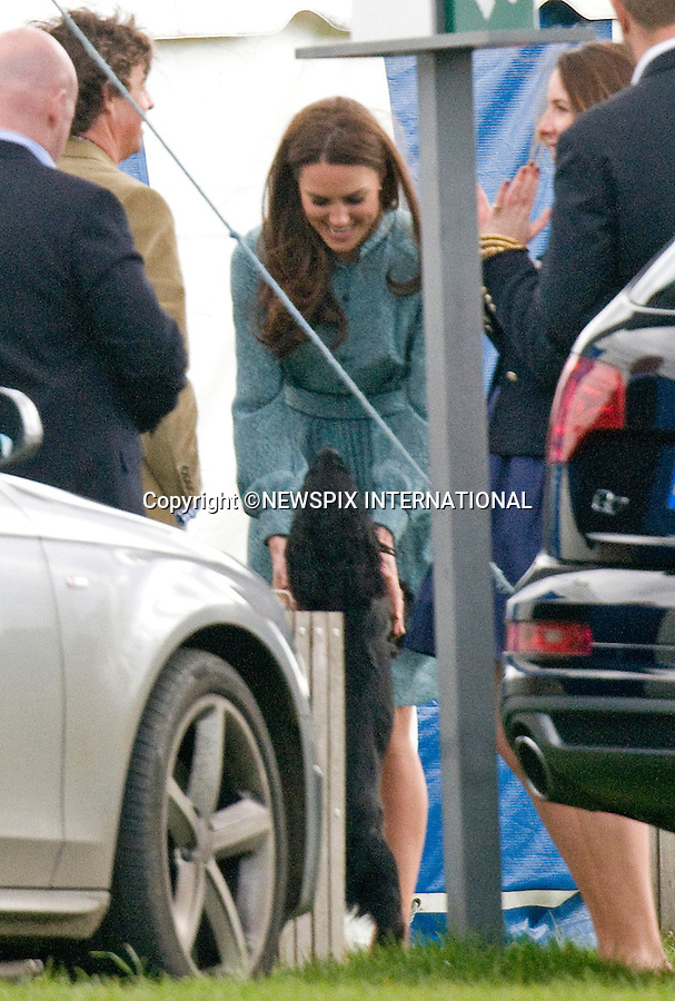 KATE SCRATCHED - IS LUPO IN THE DOGHOUSE ?<br /> When attending the bid to launch a British Team for the America's Cup the Duchessof Cambridge, displayed a large scratch across her left leg.<br /> The scratch which appears to be recent matches a paw scratch.<br /> Was the Duke and Duchess' beloved cocker spaniel reacting out of jealously with attention being given to Prince George as dog's are known for or was he just boisterous.<br /> <br /> KATE JOINS PRINCES WILLIAM AND HARRY AT POLO<br /> The Princes were playing in the annual Audi polo event at Cowarth Park, Windsor_13/05/2012<br /> Kate and William also brought along their new puppy Lupo to the event.<br /> Mandatory Credit Photo: &copy;NEWSPIX INTERNATIONAL<br /> <br /> **ALL FEES PAYABLE TO: &quot;NEWSPIX INTERNATIONAL&quot;**<br /> <br /> IMMEDIATE CONFIRMATION OF USAGE REQUIRED:<br /> Newspix International, 31 Chinnery Hill, Bishop's Stortford, ENGLAND CM23 3PS<br /> Tel:+441279 324672  ; Fax: +441279656877<br /> Mobile:  07775681153<br /> e-mail: info@newspixinternational.co.uk