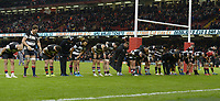 The Barbarians thank the crowd at the end of the game<br /> <br /> Photographer Ian Cook/CameraSport<br /> <br /> 2019 Autumn Internationals - Wales v Barbarians - Saturday 30th November 2019 - Principality Stadium - Cardifff<br /> <br /> World Copyright © 2019 CameraSport. All rights reserved. 43 Linden Ave. Countesthorpe. Leicester. England. LE8 5PG - Tel: +44 (0) 116 277 4147 - admin@camerasport.com - www.camerasport.com
