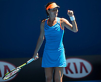 ANA IVANOVIC<br /> <br /> Tennis - Australian Open - Grand Slam -  Melbourne Park -  2014 -  Melbourne - Australia  - 13th January 2013. <br /> <br /> &copy; AMN IMAGES, 1A.12B Victoria Road, Bellevue Hill, NSW 2023, Australia<br /> Tel - +61 433 754 488<br /> <br /> mike@tennisphotonet.com<br /> www.amnimages.com<br /> <br /> International Tennis Photo Agency - AMN Images