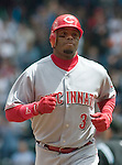 Cincinnati Reds' Ken Griffey Jr. rounds third base after hitting a first inning at bat home run to left field against Seattle Mariners' Miguel Batista at Safeco Field in Seattle on June 24, 2007.  Jim Bryant Photo. ©2010. ALL RIGHTS RESERVED..