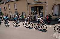 Chris Froome (GBR/SKY) in the peloton, rolling through the town of  R&eacute;aumur<br /> <br /> Stage 2: Mouilleron-Saint-Germain &gt; La Roche-sur-Yon (183km)<br /> <br /> Le Grand D&eacute;part 2018<br /> 105th Tour de France 2018<br /> &copy;kramon
