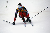 7th January 2018, Val di Fiemme, Fiemme Valley, Italy; FIS Cross Country World Cup, Tour de ski; Ladies 9km F Pursuit; Heidi Weng (NOR) almost falls on a descent