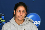 04 December 2008: Senior Yael Averbuch. The University of North Carolina Tarheels held a press conference at WakeMed Soccer Park in Cary, NC one day before their NCAA Women's College Cup semifinal game.