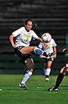 28 August 2009: University of Vermont Catamounts' forward Jessica Becker (7), a Junior from Woodbridge, CT, in action against the University of Montreal Carabins at Centennial Field in Burlington, Vermont. The Catamounts defeated the Carabins 3-2 in sudden death overtime. Mandatory Photo Credit: Ed Wolfstein Photo