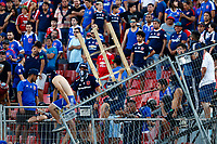 4th February 2020; National Stadium of Chile, Santiago, Chile; Libertadores Cup, Universidade de Chile versus Internacional; fans of Universidad de Chile protest and start to wreck the seating