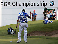 Consecutive eagles on the last make it the lucky hole for Scott Hend (AUS) during Round Three of the 2016 BMW PGA Championship over the West Course at Wentworth, Virginia Water, London. 28/05/2016. Picture: Golffile   David Lloyd. <br /> <br /> All photo usage must display a mandatory copyright credit to © Golffile   David Lloyd.
