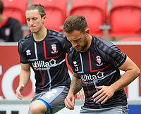 Lincoln City's Neal Eardley during the pre-match warm-up<br /> <br /> Photographer Chris Vaughan/CameraSport<br /> <br /> The EFL Sky Bet Championship - Rotherham United v Lincoln City - Saturday 10th August 2019 - New York Stadium - Rotherham<br /> <br /> World Copyright © 2019 CameraSport. All rights reserved. 43 Linden Ave. Countesthorpe. Leicester. England. LE8 5PG - Tel: +44 (0) 116 277 4147 - admin@camerasport.com - www.camerasport.com