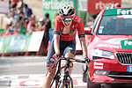Dylan Teuns (BEL) Bahrain-Merida finishes in 2nd place and takes over the race lead at the end of Stage 6 of La Vuelta 2019 running 198.9km from Mora de Rubielos to Ares del Maestrat, Spain. 29th August 2019.<br /> Picture: Colin Flockton | Cyclefile<br /> <br /> All photos usage must carry mandatory copyright credit (© Cyclefile | Colin Flockton)