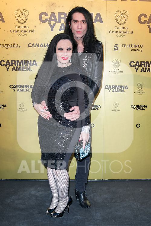 "Alaska y Mario Vaquerizo attend the Premiere of the movie ""Carmina y Amen"" at the Callao Cinema in Madrid, Spain. April 28, 2014. (ALTERPHOTOS/Carlos Dafonte)"