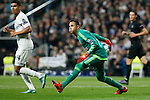 Real Madrid´s Keylor Navas during Champions League soccer match between Real Madrid  and Paris Saint Germain at Santiago Bernabeu stadium in Madrid, Spain. November 03, 2015. (ALTERPHOTOS/Victor Blanco)