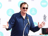 HOLLYWOOD, LOS ANGELES, CA, USA - APRIL 12: Quentin Tarantino at the Jerry Lewis Hand And Footprint Ceremony during the 2014 TCM Classic Film Festival held at the TCL Chinese Theatre IMAX on April 12, 2014 in Hollywood, Los Angles, California, United States. (Photo by Xavier Collin/Celebrity Monitor)