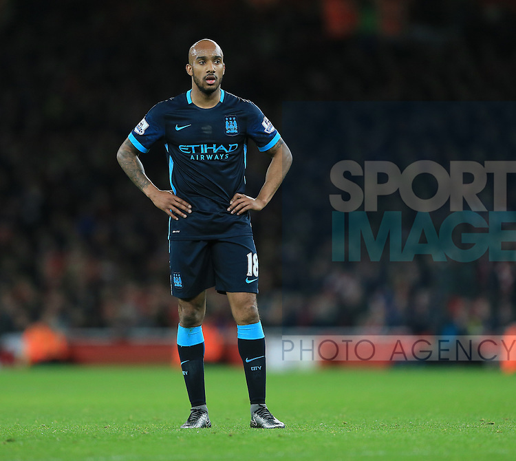 Manchester City's Fabian Delph looks on dejected<br /> <br /> Barclays Premier League- Arsenal vs Manchester City - Emirates Stadium - England - 21st December 2015 - Picture David Klein/Sportimage