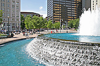 Water fountain in Woodruff Park downtown Atlanta Georgia