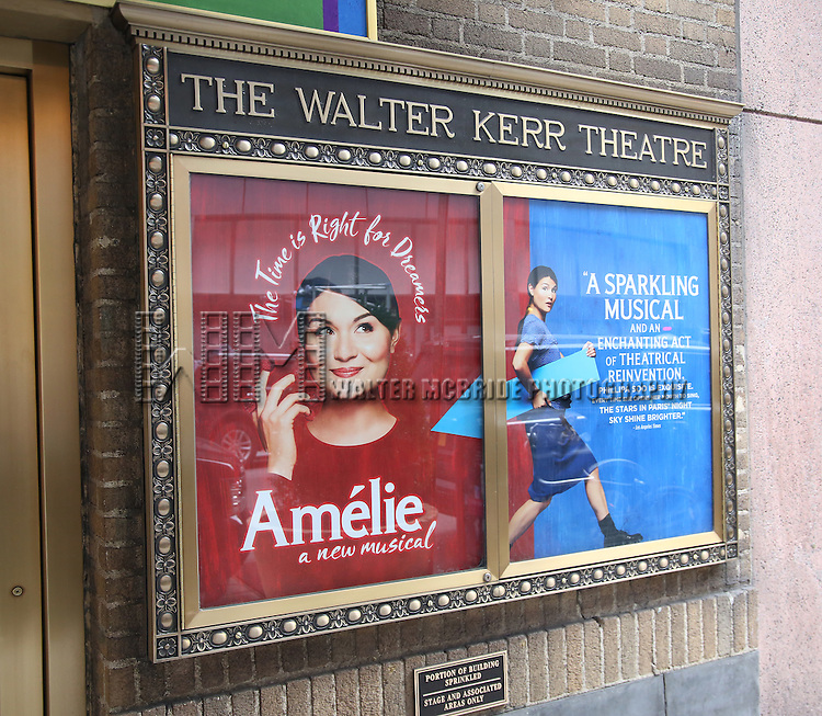 ''Amelie - A New Musical'  starring Phillipa Soo  Theatre Marquee unveiling at the Walter Kerr Theatre on January 27, 2017 in New York City.