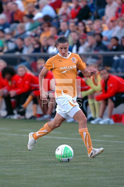 Atlanta Beat midfielder Johanna Rasmussen runs onto ball during Atlanta Beat's home debut against Sky Blue FC.
