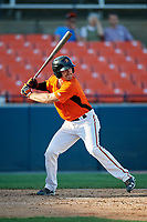 Frederick Keys first baseman Collin Woody (21) at bat during the first game of a doubleheader against the Lynchburg Hillcats on June 12, 2018 at Nymeo Field at Harry Grove Stadium in Frederick, Maryland.  Frederick defeated Lynchburg 2-1.  (Mike Janes/Four Seam Images)