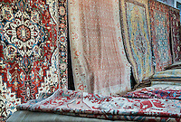 Oriental rug store display.