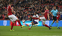 England's Raheem Sterling scores his side's fourth goal <br /> <br /> Photographer Rob Newell/CameraSport<br /> <br /> UEFA Euro 2020 Qualifying round - Group A - England v Czech Republic - Friday 22nd March 2019 - Wembley Stadium - London<br /> <br /> World Copyright © 2019 CameraSport. All rights reserved. 43 Linden Ave. Countesthorpe. Leicester. England. LE8 5PG - Tel: +44 (0) 116 277 4147 - admin@camerasport.com - www.camerasport.com