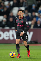 Alexis Sanchez of Arsenal during the Premier League match between West Ham United and Arsenal at the Olympic Park, London, England on 13 December 2017. Photo by Andy Rowland.
