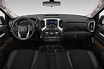 Stock photo of straight dashboard view of 2019 GMC Sierra-1500 Elevation 4 Door Pickup Dashboard