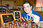 CHAMPION: Ballylongford student Ryan Henry who has just been crowned Irish Under-18 draughts champion.