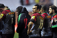 Winston Stanley of Harlequins looks on after the match. Aviva Premiership match, between Harlequins and Leicester Tigers on February 19, 2016 at the Twickenham Stoop in London, England. Photo by: Patrick Khachfe / JMP