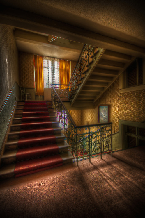 An old unused hotel in the Black Forest Germany