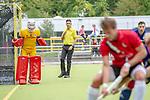 Mannheim, Germany, October 12: During the 1. Hockey Bundesliga men match between TSV Mannheim and Mannheimer HC on October 12, 2019 at TSVMH Arena in Mannheim, Germany. Final score 1-4 (HT 0-1). (Copyright Dirk Markgraf / 265-images.com) *** Lukas Stumpf #4 of Mannheimer HC