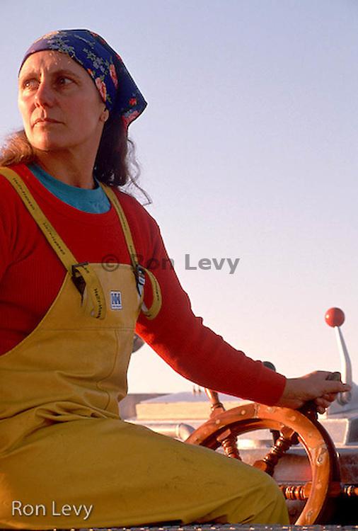 Woman boat captain, Kenai, Alaska