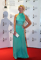 12/2/11 Aisling O'Loughlin on the red carpet at the 8th Irish Film and Television Awards at the Convention centre in Dublin. Picture:Arthur Carron/Collins