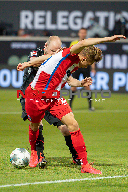 David Otto (FC Heidenheim, #26), Davy Klaassen (SV Werder Bremen, #30),<br /> <br /> GER, FC Heidenheim vs. Werder Bremen, Fussball, Bundesliga Religation, 2019/2020, 06.07.2020,<br /> <br /> DFB/DFL regulations prohibit any use of photographs as image sequences and/or quasi-video., <br /> <br /> <br /> Foto: EIBNER/Sascha Walther/Pool/gumzmedia/nordphoto