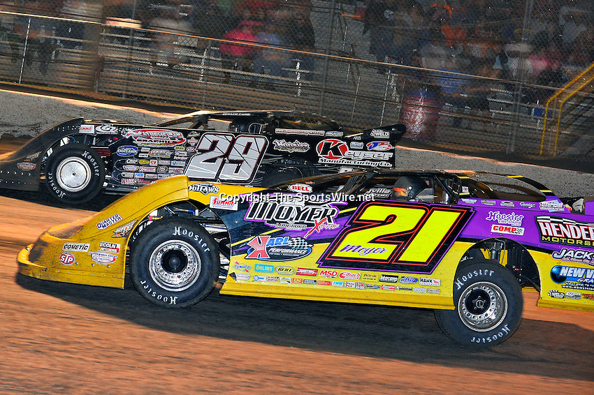 Feb 20, 2014; 9:42:35 PM;  Barberville, FL, USA;  World of Outlaws Late Model Series for 43rd Annual DIRTcar Nationals presented by Summit Racing Equipment at Volusia Speedway Park.  Mandatory Credit: (thesportswire.net)