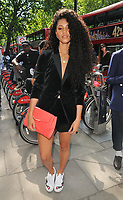 Vick Hope (Victoria Nwosu-Hope) at the LFW (Men's) s/s 2019 What We Wear catwalk show, BFC Showspace, The Store Studios, The Strand, London, England, UK, on Monday 11 June 2018.<br /> CAP/CAN<br /> &copy;CAN/Capital Pictures