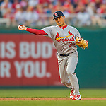 28 May 2016: St. Louis Cardinals infielder Aledmys Diaz in action against the Washington Nationals at Nationals Park in Washington, DC. The Cardinals defeated the Nationals 9-4 to take a 2-games to 1 lead in their 4-game series. Mandatory Credit: Ed Wolfstein Photo *** RAW (NEF) Image File Available ***