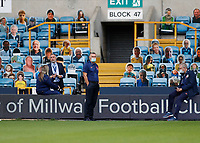 14th July 2020; The Den, Bermondsey, London, England; English Championship Football, Millwall Football Club versus Blackburn Rovers; Blackburn Rovers manager Tony Mowbray looks on from The Dockers Stand before kick off