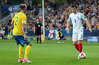Ben Chilwell of England  and Linus Wahlqvist of Sweden during Sweden Under-21 vs England Under-21, UEFA European Under-21 Championship Football at The Kolporter Arena on 16th June 2017