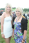 Emma Divine and Tonya Hanratty at the Bellewstown Races...Photo NEWSFILE/Jenny Matthews.(Photo credit should read Jenny Matthews/NEWSFILE)....This Picture has been sent you under the condtions enclosed by:.Newsfile Ltd..The Studio,.Millmount Abbey,.Drogheda,.Co Meath..Ireland..Tel: +353(0)41-9871240.Fax: +353(0)41-9871260.GSM: +353(0)86-2500958.email: pictures@newsfile.ie.www.newsfile.ie.FTP: 193.120.102.198.