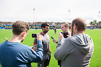 Lincoln City manager Danny Cowley speaks to the media after the game <br /> <br /> Photographer Chris Vaughan/CameraSport<br /> <br /> Football Pre-Season Friendly (Community Festival of Lincolnshire) - Gainsborough Trinity v Lincoln City - Saturday 6th July 2019 - The Martin & Co Arena - Gainsborough<br /> <br /> World Copyright © 2018 CameraSport. All rights reserved. 43 Linden Ave. Countesthorpe. Leicester. England. LE8 5PG - Tel: +44 (0) 116 277 4147 - admin@camerasport.com - www.camerasport.com