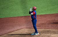 Frank Morejon del equipo los Alazanes de Gamma de Cuba, durante el partido de beisbol de la Serie del Caribe contra los Criollos de Caguas de Puerto Rico en estadio de los Charros de Jalisco en Guadalajara, M&eacute;xico, Martes 6 feb 2018. <br /> (Foto: AP/Luis Gutierrez)