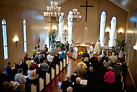 The congregation of the St. Stephen's Episcopal Church during a service temporarily taking place in a rented wedding chapel in Hurst, Texas, USA, Sunday, Nov. 1, 2009. The St. Stephen's Episcopal Church in Hurst, Texas has come to represent a recent change of the Episcopal church which now ordains openly gay priests and offers alternative ideas towards the future for Episcopalians. St. Stephen's has split into two factions due to differing opinions on the future of the church...CREDIT: Matt Nager for The Wall Street Journal