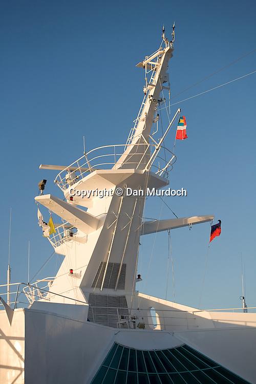 "Main mast of the Royal Caribbean cruise ship ""Explorer of the Seas""."
